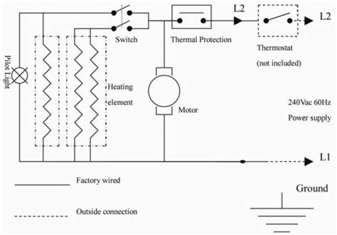 240v heater thermostat wiring diagram