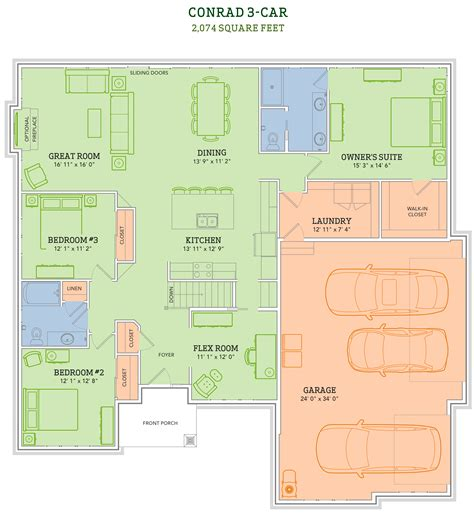veridian homes floor plans the conrad home plan veridian homes