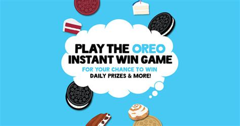 Oreo Sweepstakes 2017 - play the oreo instant win and score an oreo prize pack