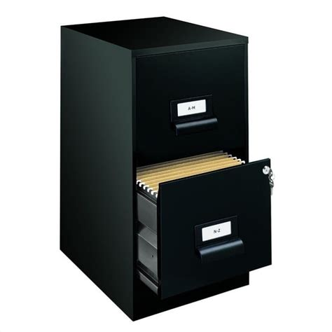 2 Drawer Black Filing Cabinet by Hirsh Industries 18 Quot 2 Drawer Ultra File Black Filing