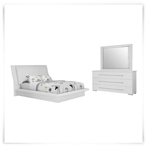 dimora bedroom set white dimora white upholsterd platform bedroom