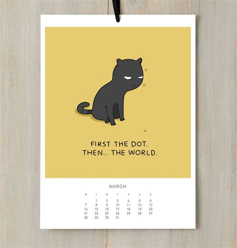 Cat Calendar I Created A Cat Calendar To Make You Smile All Year