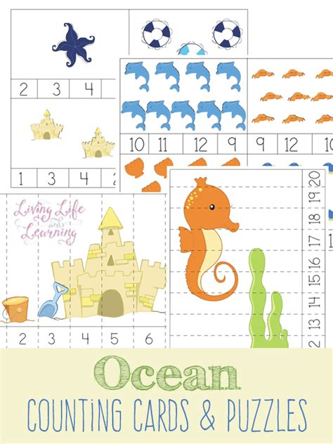 printable ocean puzzles free ocean counting cards and puzzles free homeschool