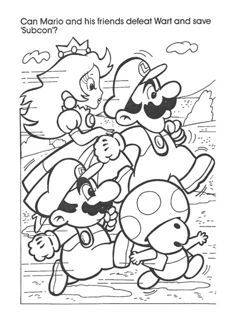 coloring pages nintendo the captain n network