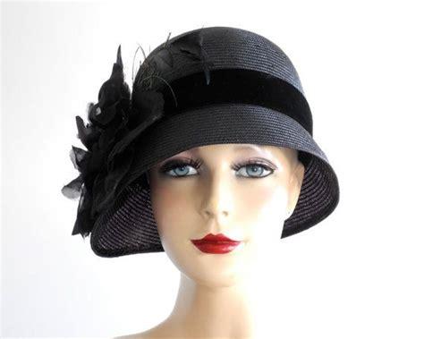 black straw cloche hat fashion 1920 s flapper