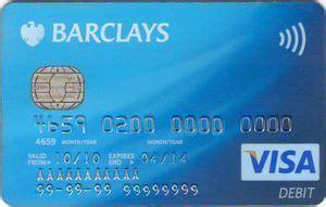 bank card barclays visa debit contactless barclays