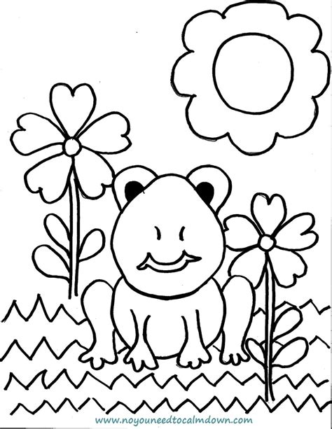 colors free printables no you need to calm down spring frog coloring page for kids free printable no