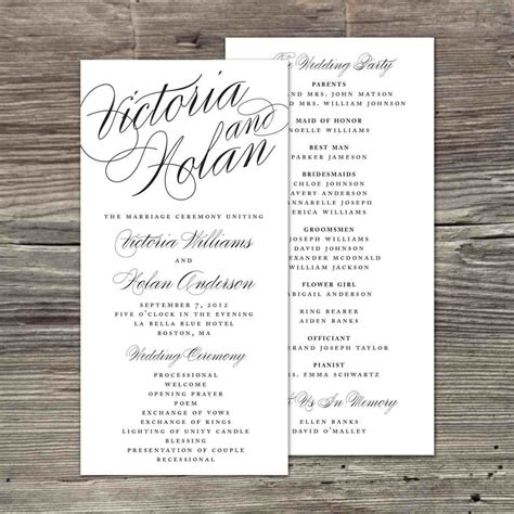 S Ideas On Pinterest Church Bulletins Bulletin Catholic Church Free Downloadable Wedding Program Wedding Bulletin Template