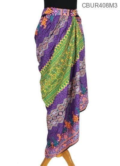 rok lilit panjang motif songket manik kancing bawahan