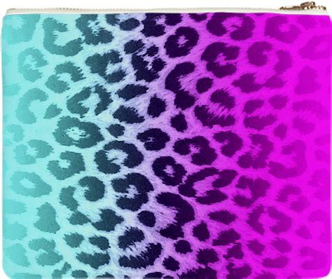 Lnice 28 Pink Leopard shop pink blue gradient leopard print clutch by riverme print all me