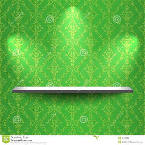 Green The Shelf by Shelf On The Green Wall Royalty Free Stock Photo Image 31955335