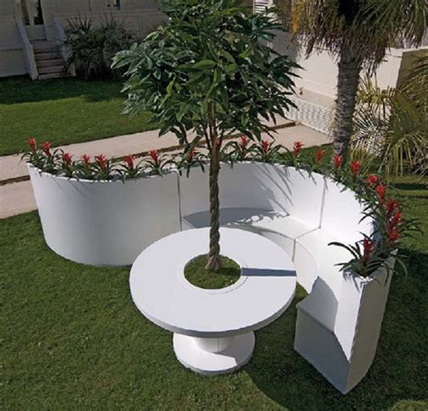 outdoor furniture made from recycled materials garden furniture made with matte white lacquered aluminum digsdigs