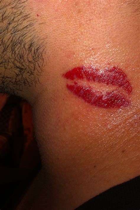 lipstick kiss tattoo 36 awesome neck tattoos to consider