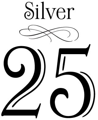 25th wedding anniversary clip art clipart best
