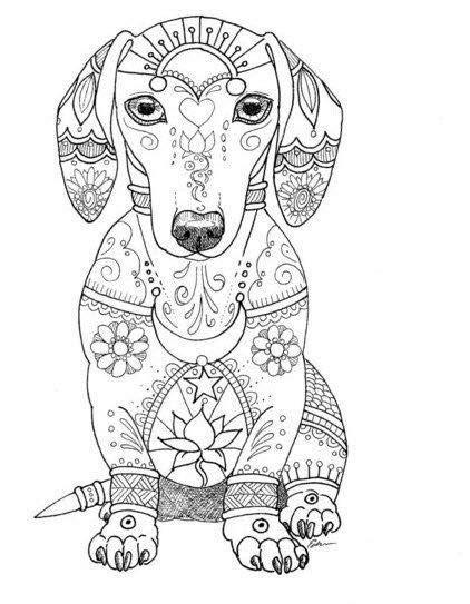 Galerry coloring pages mandala dog