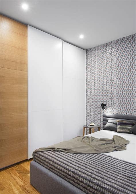 slaapkamer met hout behang slaapkamer idee 235 n