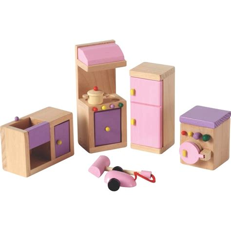 dolls house kitchen furniture wooden dolls house kitchen furniture miniature doll house accessory ebay