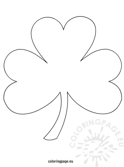 template of shamrock shamrock template coloring page