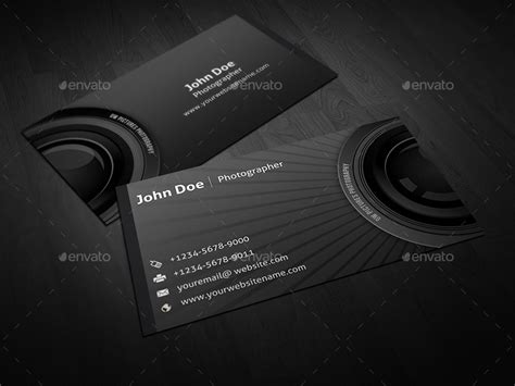 Photographer Business Card By Owpictures Graphicriver Free Card Templates For Photographers