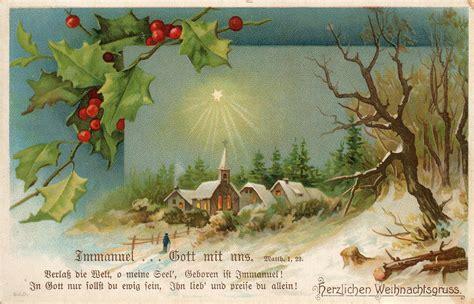 leaping frog designs vintage german christmas post card  image  leaping frog designs