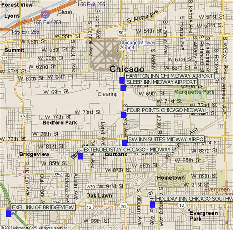 chicago hotel map 21 beautiful chicago midway map swimnova