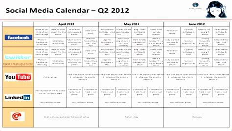 8 Social Media Plan Template Excel Exceltemplates Exceltemplates Social Media Calendar Template 2018