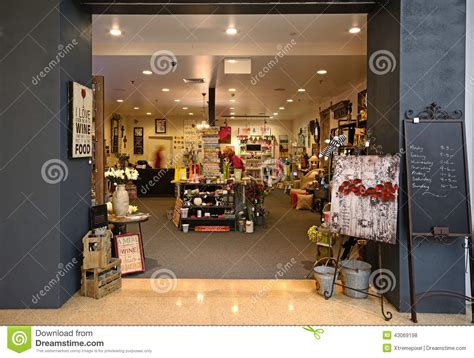 home design store and gifts interior of a gift shop editorial stock photo image