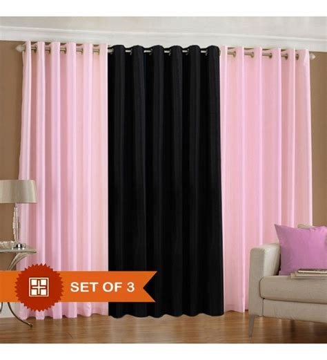 light pink eyelet curtains deal wala 2 light pink 1 black eyelet door curtain