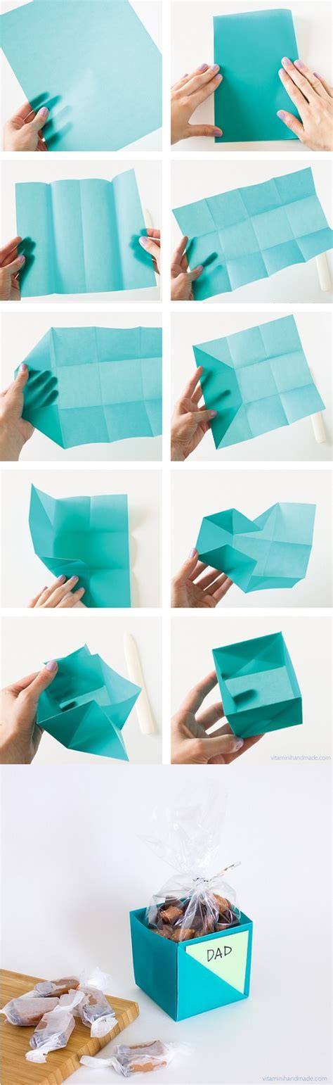 Make A Gift Box Out Of Paper - 25 projects to show your amazing diy skills 6 blue