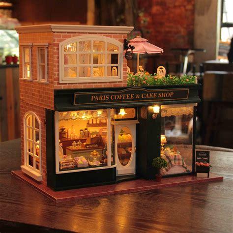 diy dollhouse paris coffee  cake shop playage