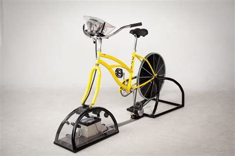 energy bike generator produces free electricity to charge
