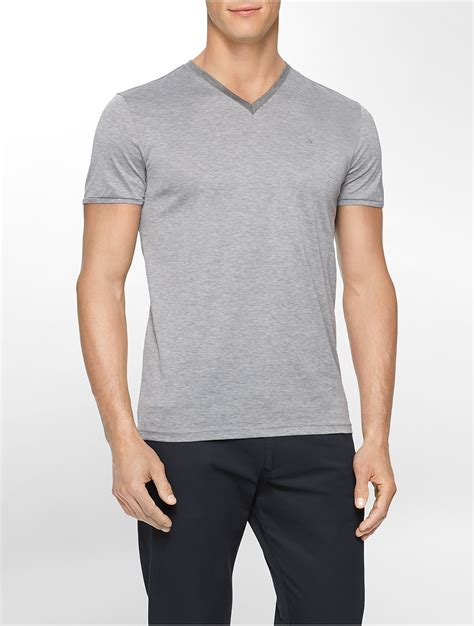 Uniqlo S001 White Lable Grey Wash calvin klein white label premium slim fit v neck t shirt