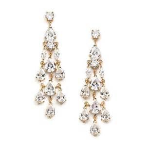 Chandelier Wedding Earrings Chandelier Wedding Earrings Cz Golden Setting
