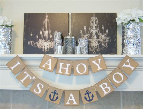 ahoy its a boy decorations ahoy it s a boy baby shower banner nautical theme baby