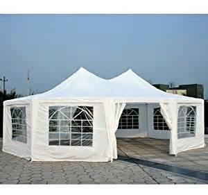 Amazon com outsunny 29 x 20 large decagon 10 wall party canopy