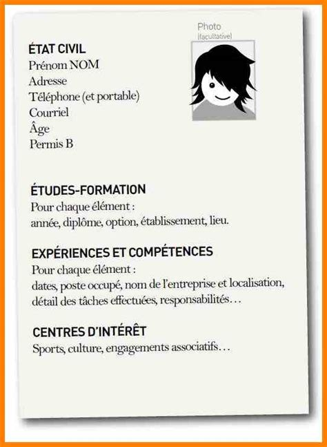 Sample Resumes For Freshers by Curriculum Vitae Francais Modele Aubin Houdet Caseneuve