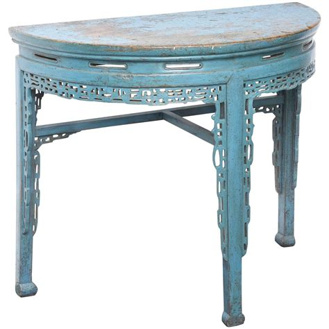 painted sofa tables 19th century chinese hand painted half round console table