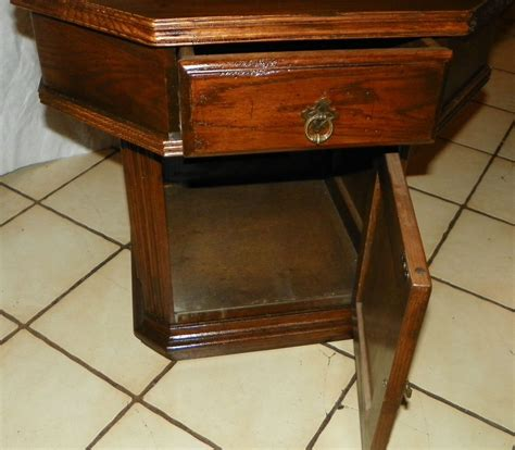 Ethan Allen Side Table Ethan Allen Oak Octagon End Table Side Table T87 Post 1950