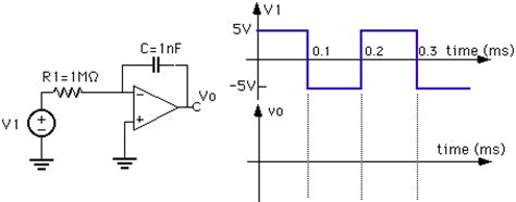 what does an integrator circuit do ese205 capacitors 1