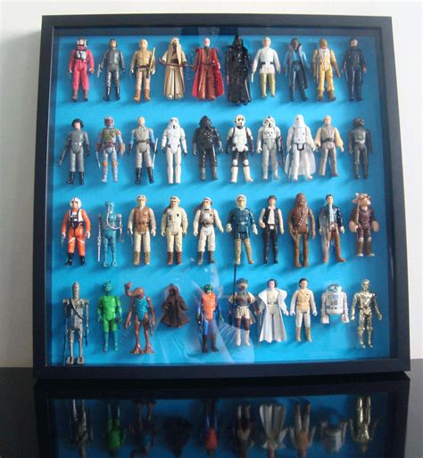 star wars action figure display cabinet use an ikea ribba frame to preserve your vintage action