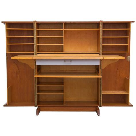 storage cabinet with fold out table mummenthaler and meier quot magic box quot folding desk cabinet