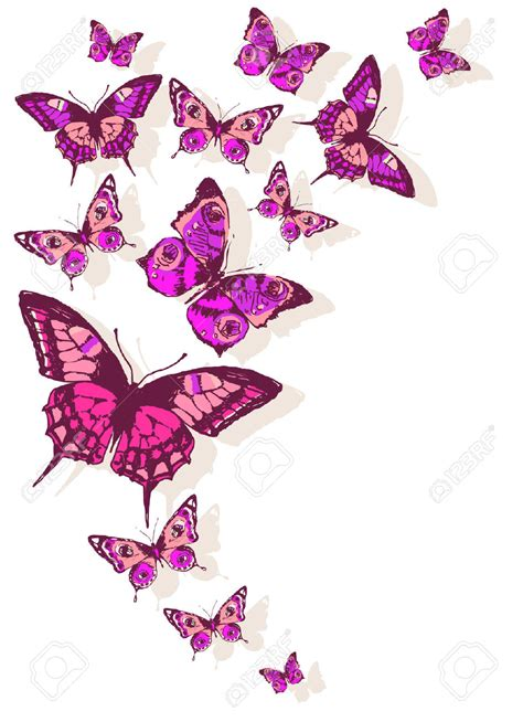 design flower and butterfly simple butterfly on flower design clipart