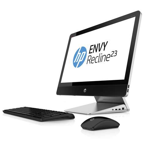 ordinateur de bureau sans tour hp envy recline 23 k050ef e8t72ea pc de bureau hp sur