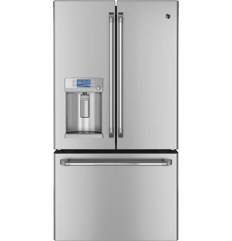 Ge Cafe Counter Depth French Door Refrigerator - ge cye23tsdss cafe 23 1 cu ft stainless steel counter