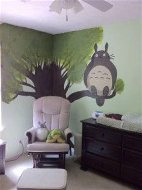 Totoro Bedroom Decor by Totoro Themed Bedroom Mural Wall Design Bedrooms