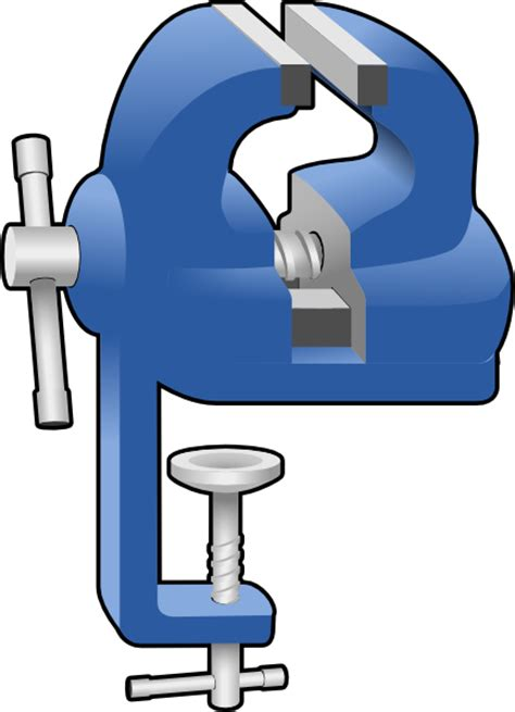 Engineers Bench Vice Clamp Clip Art At Clker Com Vector Clip Art Online
