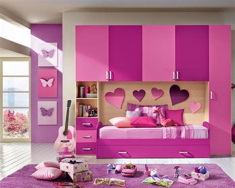 pink and purple bedroom