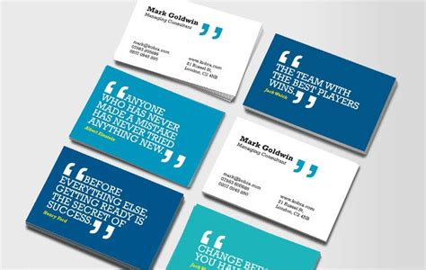Business Card Phrases
