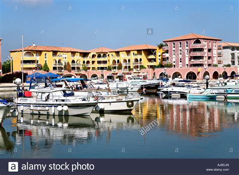 port ariane montpellier stock photo royalty free