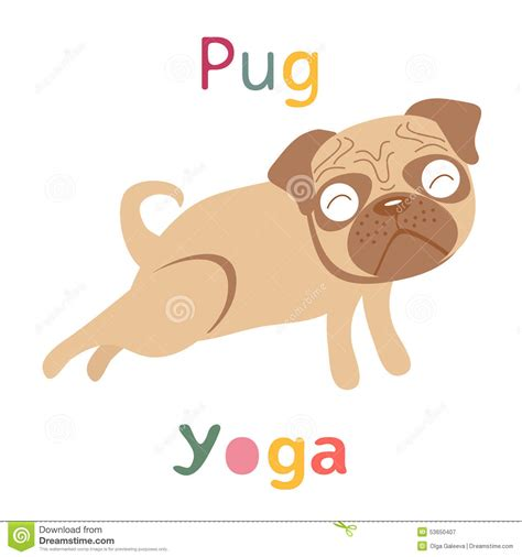 nature of pug an illustration of pug doing stock vector image 53650407